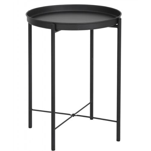 Delicato โต๊ะข้างทรงกลม ขนาด 43x43x52ซม.  GLADOM BLACK สีดำ