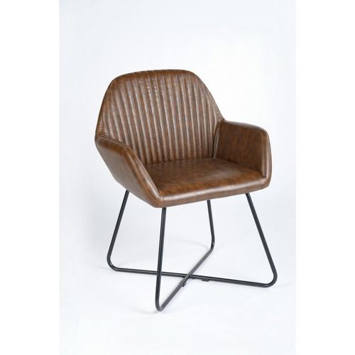 Pulito เก้าอี้พักผ่อน   KEITH  PU  สีน้ำตาล