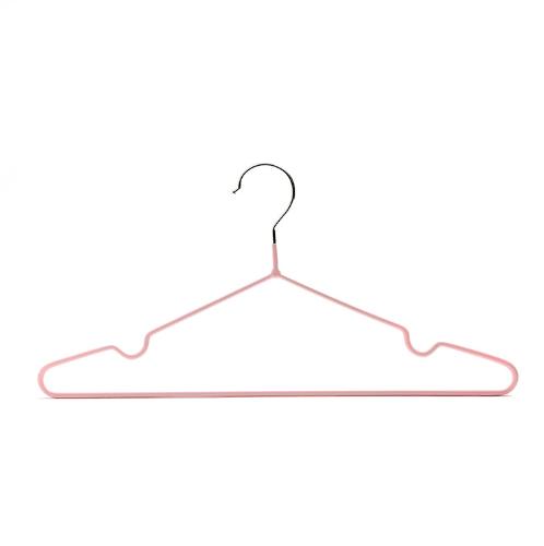 SAKU ไม้แขวนเสื้อเหล็กเคลือบ บรรจุ 6ชิ้น/แพ็ค AN09  สีชมพู
