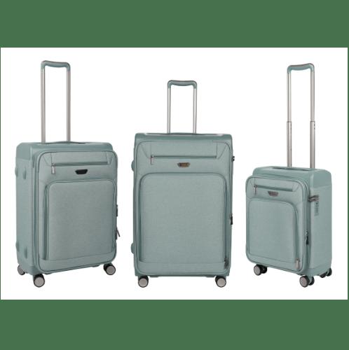 WETZLARS ชุดกระเป๋าเดินทางแบบผ้า 3 ใบ ขนาด 20 นิ้ว 24 นิ้ว 28 นิ้ว  ATW005GN สีเขียว