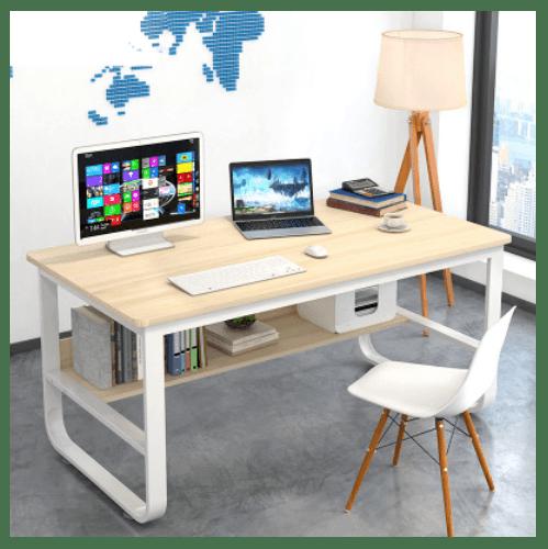 SMITH โต๊ะทำงาน  ขนาด 60X120X73ซม.  HD003 สีไวท์เมเปิล