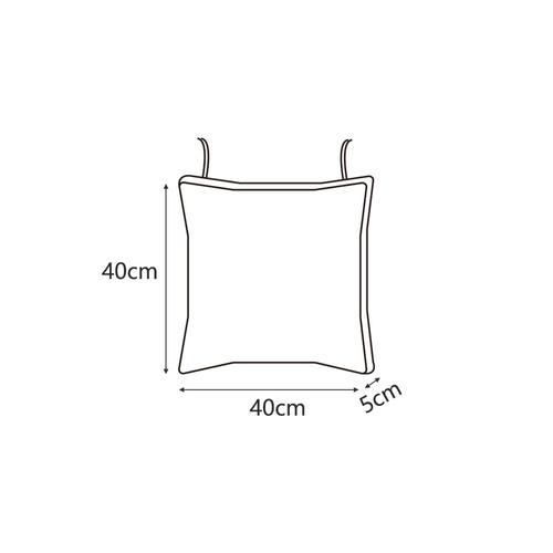 COZY เบาะรองนั่งสี่เหลี่ยม ขนาด 40×40×5ซม. CX09 สีเทา