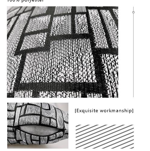 COZY หมอนอิง ขนาด 40×40×8ซม.   CY12 สีดำ