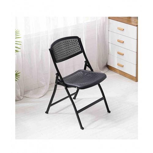 Delicato เก้าอี้พลาสติกพับได้   ขนาด 47.5×58×85ซม.  9017-A สีดำ