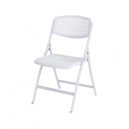 Delicato เก้าอี้พลาสติกพับได้  ขนาด 47.5×58×85ซม.  9017-B สีขาว