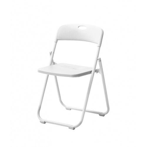 Delicato เก้าอี้พลาสติกพับได้ ขนาด 44×44×75ซม. 3017-B  สีขาว