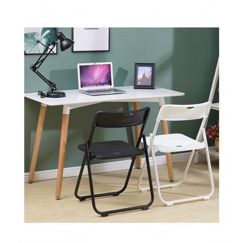 Delicato เก้าอี้พลาสติกพับได้ ขนาด 44×44×75ซม. 3017-A สีดำ