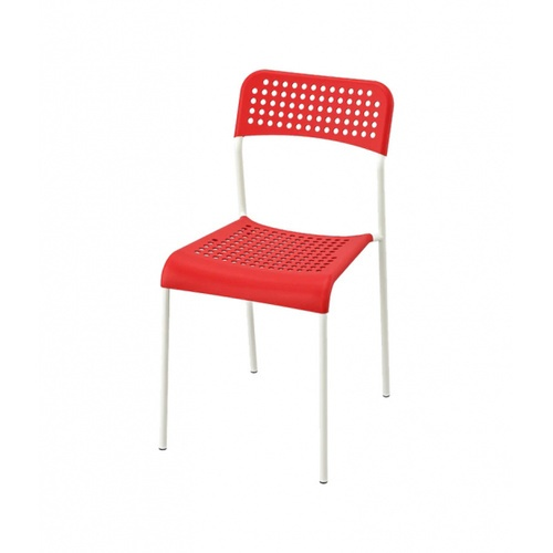 Delicato  เก้าอี้พลาสติก  ขนาด 38.5×55.5×77ซม.  6022-D สีแดง