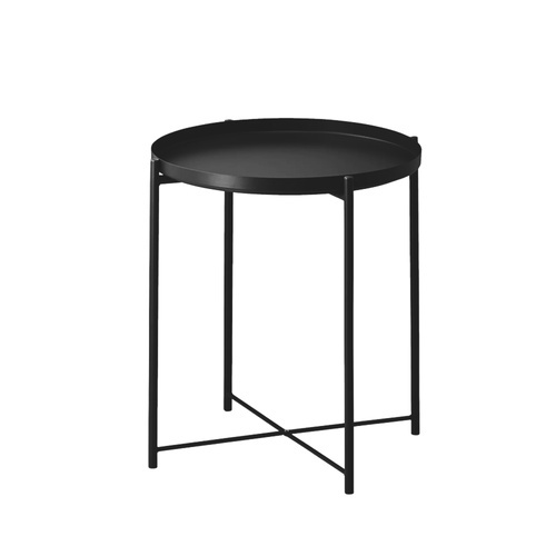 Delicato โต๊ะวางถาดพับได้ ขนาด 47.5x53 ซม. LX01  สีดำ