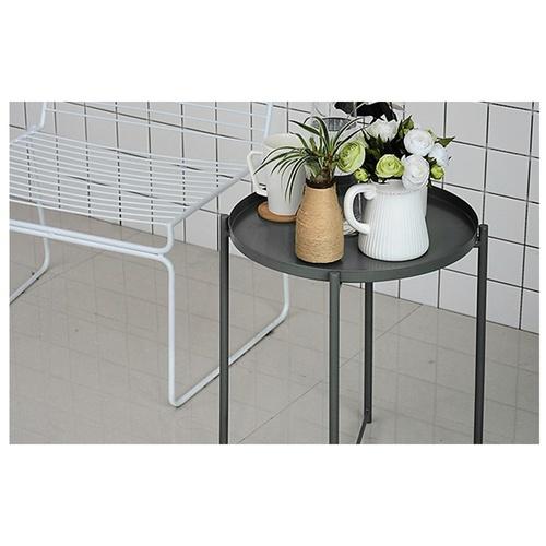 Delicato โต๊ะวางถาดพับได้ ขนาด 47.5x53ซม.  LX04 สีเทาเข้ม