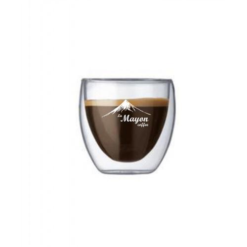 LAMAYON แก้วใสสองชั้น CLEAN ขนาด 80ML MS01 สีใส (4 ใบเล็ก)