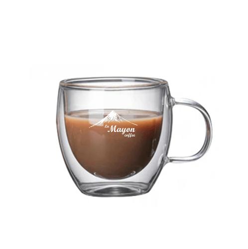 LAMAYON แก้วกาแฟสองชั้น CLEAN ขนาด 150ML. สีใส MS04
