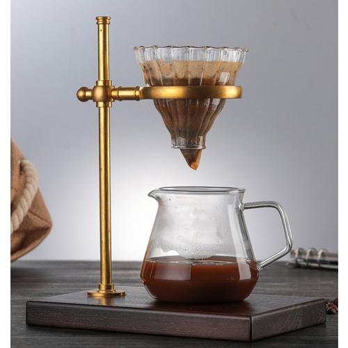 LAMAYON  แก้วชงกาแฟดริป CLEAN ขนาด  600ML สีทอง-ใส CM02
