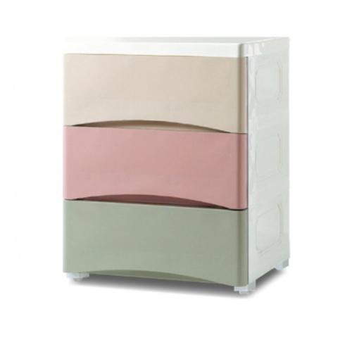 GOME  ตู้ลิ้นชักเก็บของ 3 ชั้น ขนาด 29×38×50ซม.สีพาสเทล F3113