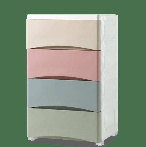 GOME  ตู้ลิ้นชักเก็บของ 4 ชั้น ขนาด 29×38×65ซม. สีพาสเทล F3114