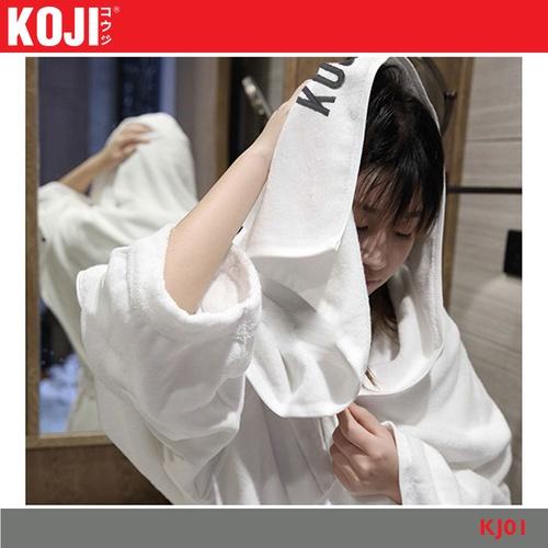 KOJI ผ้าเช็ดหน้า ขนาด 35×75×0.4ซม. KJ01 สีขาว
