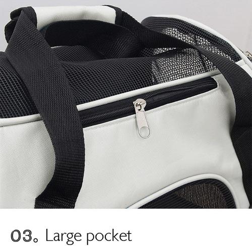 DUDUPETS กระเป๋าใส่สัตว์เลี้ยงแบบพกพา ไซส์ M ขนาด 23x47x30ซม. PTC001MBGE  เบจ