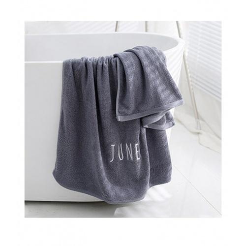 COZY ผ้าเช็ดตัว ขนาด 70×140×0.4ซม สีเทาเข้ม LY12