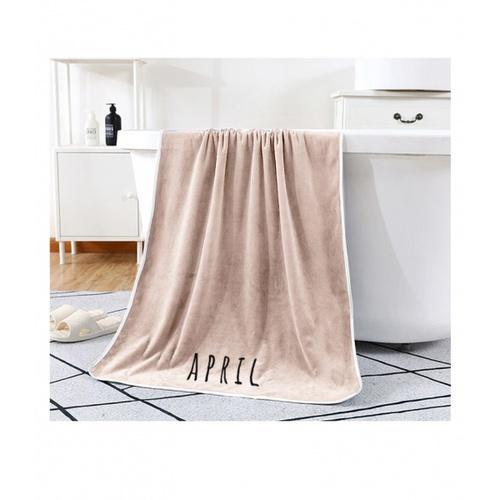 COZY ผ้าเช็ดตัว ขนาด 70×140×0.4ซม สีน้ำตาลอ่อน LY13