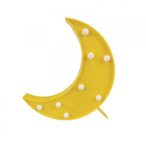 COZY LEDไฟตกแต่งรูปดวงจันทร์ ขนาด 18×24.5×3 ซม.   FM10 สีเหลือง