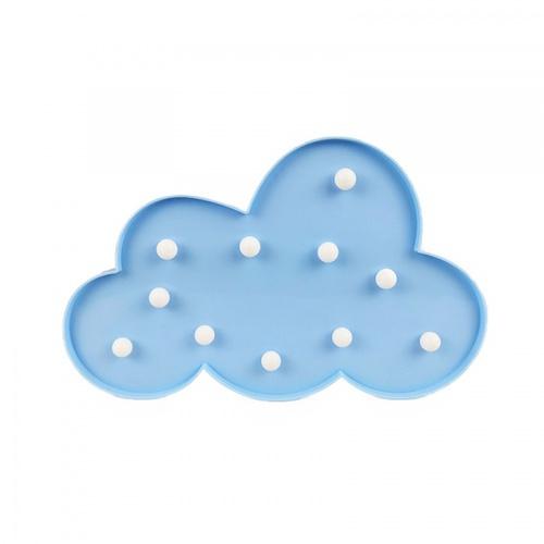 COZY LEDไฟตกแต่งรูปเมฆ  ขนาด 18.5×30×3 ซม.  FM17-BL  สีฟ้า