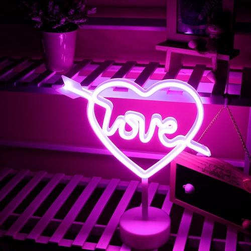COZY  LEDไฟนีออนรูปหัวใจ ขนาด 26×32×8.5 ซม.   ST-17 สีม่วง