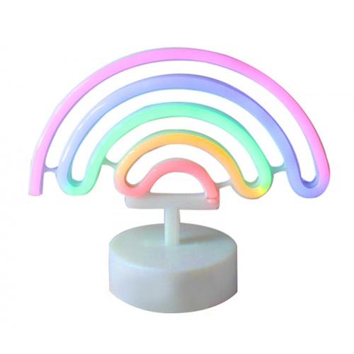 COZY  LEDไฟนีออนรูปสายรุ้ง  ขนาด 24.5×28.5×8.5 ซม.   คละสี ST-13