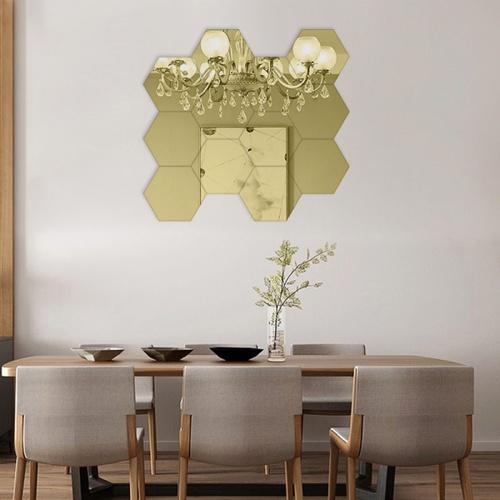 COZY สติกเกอร์กระจกติดผนัง  ขนาด 16×18.5×0.1 ซม.   JM006-GLD สีทอง
