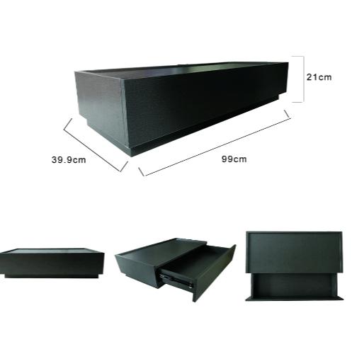 Delicato ตู้อเนกประสงค์ HD003-BK สีดำ