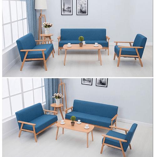 Divano โซฟาผ้า 1ที่นั่ง 65X65X71CM   MH004  สีน้ำเงิน