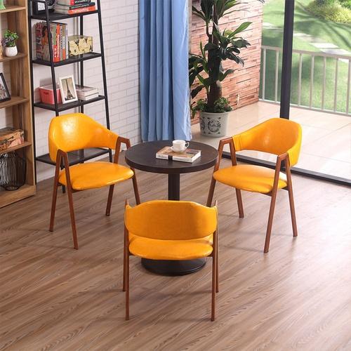 Pulito เก้าอี้ ขนาด 56×48×79cm. SQ005 สีเหลือง