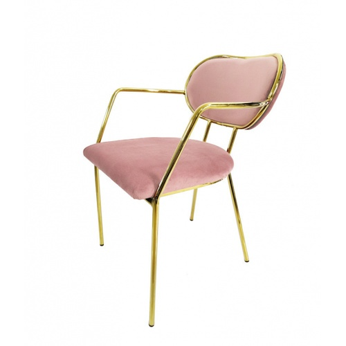 Pulito  เก้าอี้ 58×52×76cm  SQ015 สีชมพู