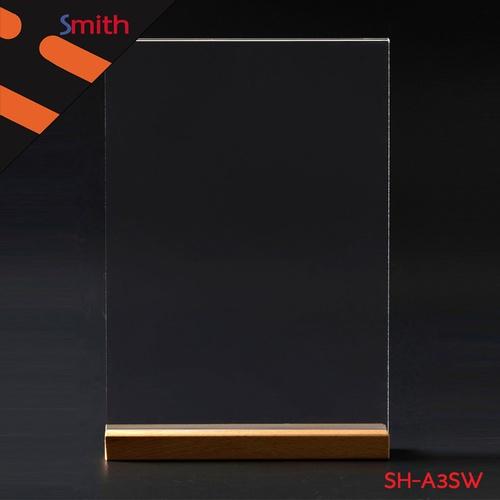 SMITH ป้ายอะคริลิคฐานไม้ A3 แนวตั้งขนาด 29.7x42.4cm SH-A3SW