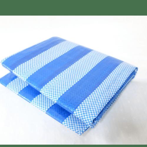 POLLO ผ้าพลาสติกสาน 3y*4m สีฟ้า-ขาว 3y*4m สีฟ้า-ขาว
