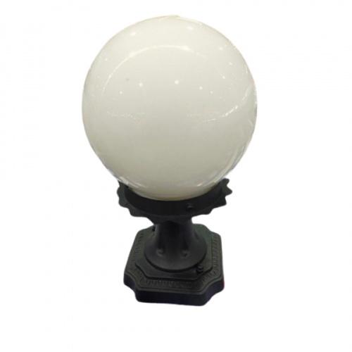 V.E.G โคมไฟหัวเสา 1035A-W แก้วขาว 6 นิ้ว สีขาว