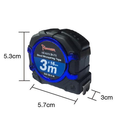 HUMMER  ตลับเมตร 3เมตร รุ่น X05-3016-N สีน้ำเงิน
