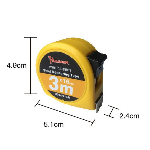 HUMMER ตลับเมตร 3 เมตร  X04-3016-N