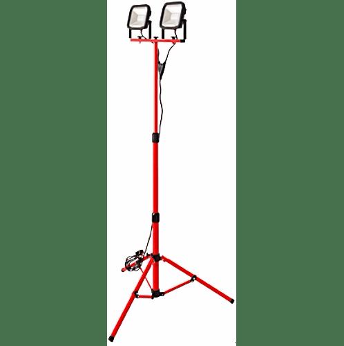 LUCECO โคมไฟฟลัดไลท์แบบขาตั้ง 2 หัว LSWT26BR3TH สีดำ