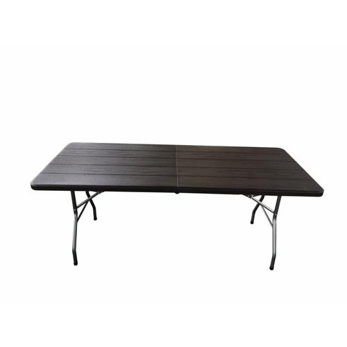 Tree O  โต๊ะอเนกประสงค์ ขนาด 6ฟุต พับครึ่ง ลายไม้  SN-F180WD-BR สีน้ำตาล