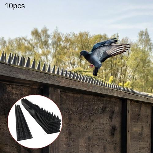 ปืนใหญ่ หนามกันนกพลาสติก ขนาด 50x4.5x1.7 ซม. BS001 (10ชิ้น/กล่อง) สีดำ