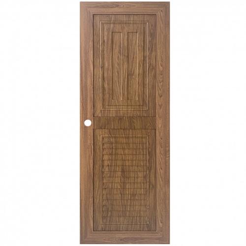 WELLINGTAN ประตู ABS ลูกฟักพร้อมเกล็ดระบายอากาศ ABS-A14-02 ขนาด 70x200ซม. Light Brown
