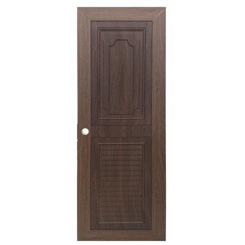 WELLINGTAN ประตู ABS ลูกฟักพร้อมเกล็ดระบายอากาศ ขนาด70x200ซม. Dark Brown ABS-A12-04  สีน้ำตาลเข้ม