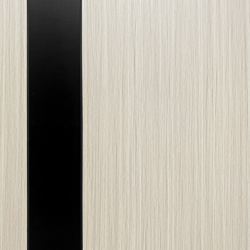 Wellingtan  ประตู WPC บานทึบ  80x200ซม. Gray Oak & Black (ไม่เจาะ) WPC-02