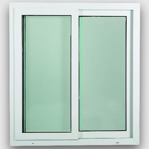 WELLINGTAN หน้าต่างไวนิล บานเลื่อน SS ขนาด 100x110ซม.  SWG1011 สีขาว