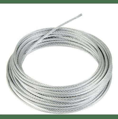 - ลวดสลิงสแตนเลส หุ้ม  PVC ใส ขนาด 4.0 มิล  7x7  ยาว 30 เมตร