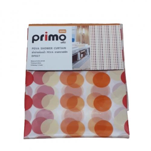 PRIMO ผ้าม่านห้องน้ำ PEVA ลายกราฟฟิก ขนาด 180*180 ซม. DF027