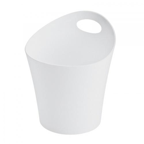 - ตะกร้าพลาสติกมีหูจับ  ขนาด 13.5x21x23 ซม.   DYS028   สีขาว