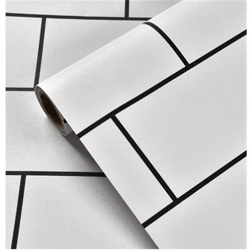TAPIO วอลเปเปอร์ ขนาด 45x1000cm ลาย Brick  BYD020 สีขาว
