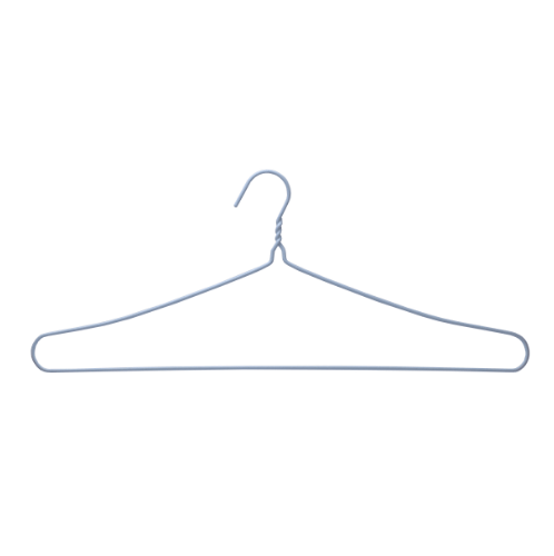 SAKU ไม้แขวนเสื้อลวดหุ้มพลาสติกใหญ่พิเศษ แพ็ค 3 ชิ้น JMXS004-BL สีฟ้า