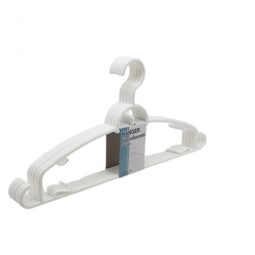 SAKU ไม้แขวนเสื้อพลาสติก ขนาด 39.5x19.5x0.6ซม.   GDH001-WH 5ชิ้น/แพ็ค สีขาว
